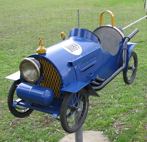 racing car letterbox for rural mail delivery at front of Gallery